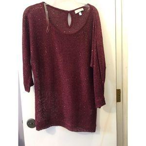 Mesh sweater sparkles